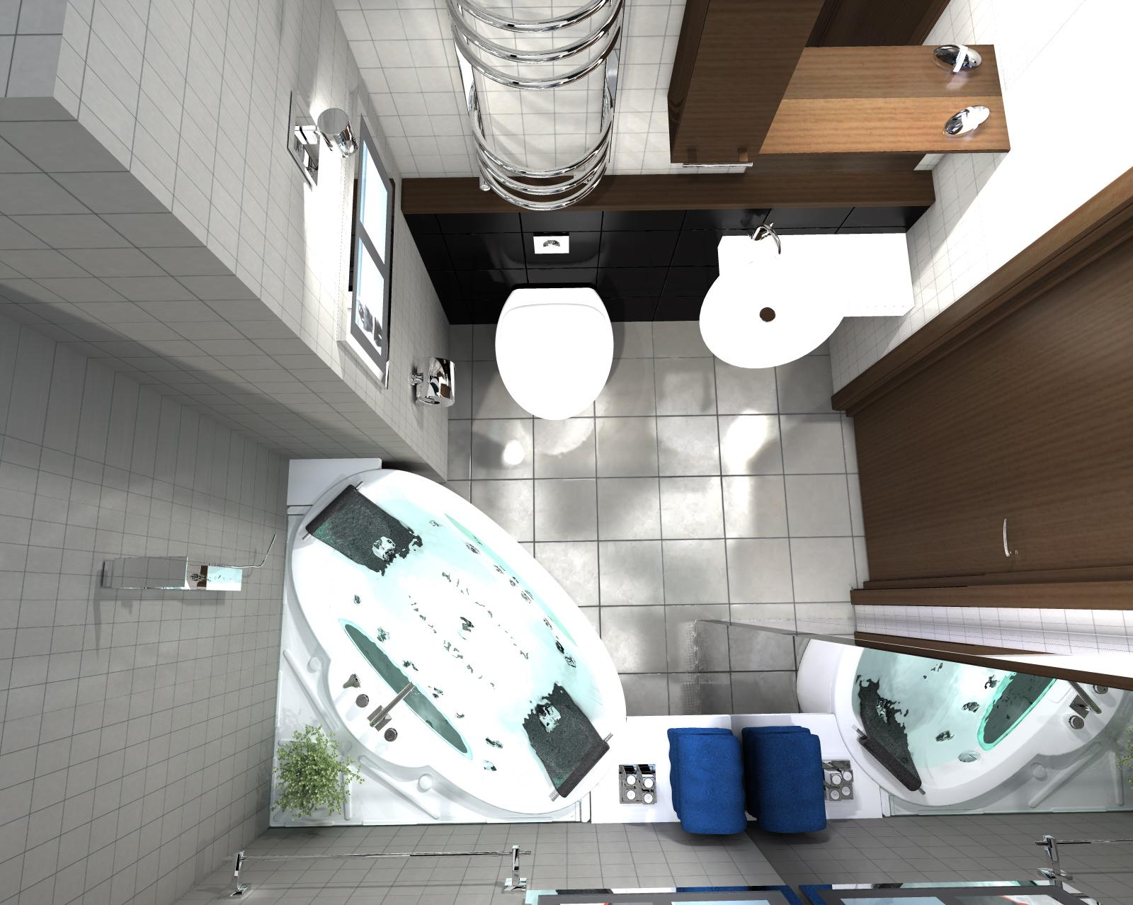 Projekt aranżacji mieszkania dwupokojowego o powierzchni 48 m2
